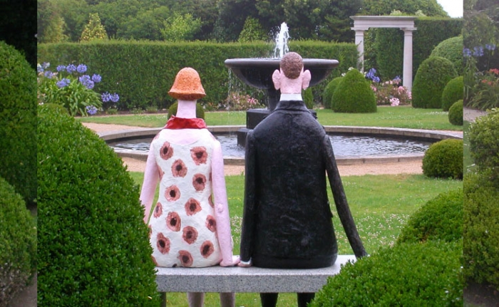 Chassepot, le couple, bronze