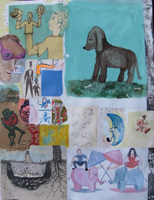 Untitled, 2010, Technique mixte sur papier, 48 x 37 cm