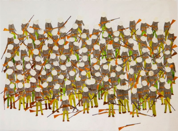 Untitled, 2009, Technique mixte sur papier, 56 x 76 cm, Neil Farber