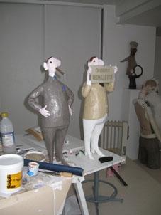 content de lui, sculpture en résine Drop Fine Art, 2009, 55 cm