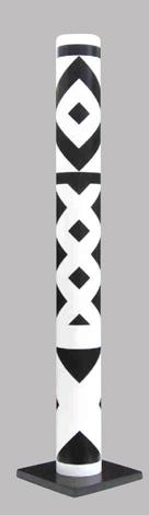 Colonne (ou tube) en pvc hauteur 1.90 m, Ø 20 cm signée, numérotée, 8 ex Guy De Rougemont, 2005