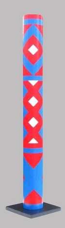 Colonne (ou tube) en pvc, hauteur 1.90 m, Ø 20 cm signée, numérotée, 8 ex, Guy De Rougemont
