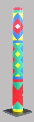 Colonne (ou tube) en pvc hauteur 1.90 m, Ø 20 cm signée, numérotée, 8 ex Guy De Rougemont