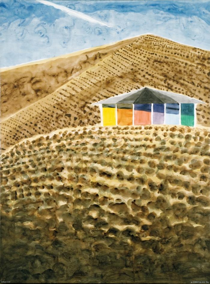 Atelier à Arad, acrylique sur toile, 2010, 173 x 128 cm, Tel Aviv, Hervé Di Rosa