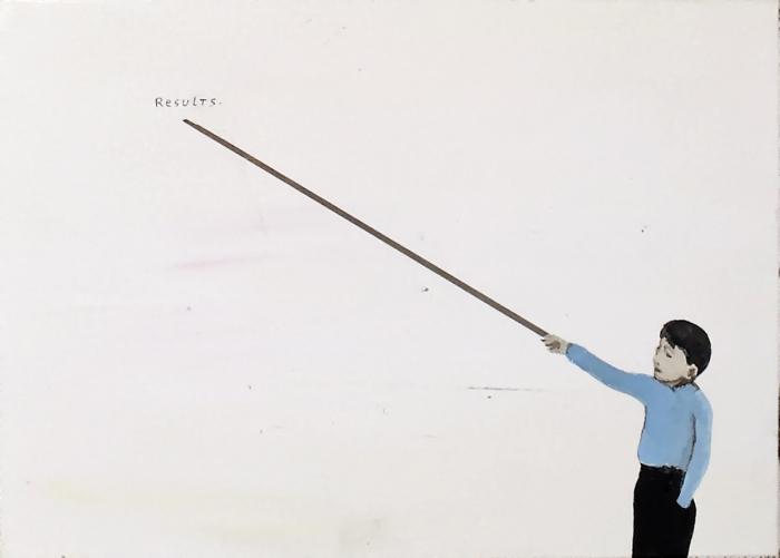 Results, 2010, Technique mixte sur panneau, 13 x 18 cm