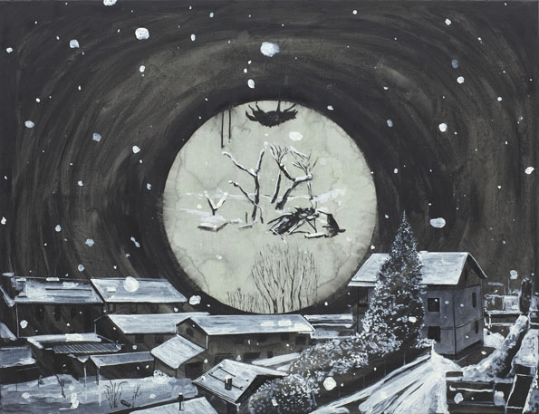 ¿Qué hacías durante el invierno?, technique mixte sur toile, 100 x 130 cm, 2013