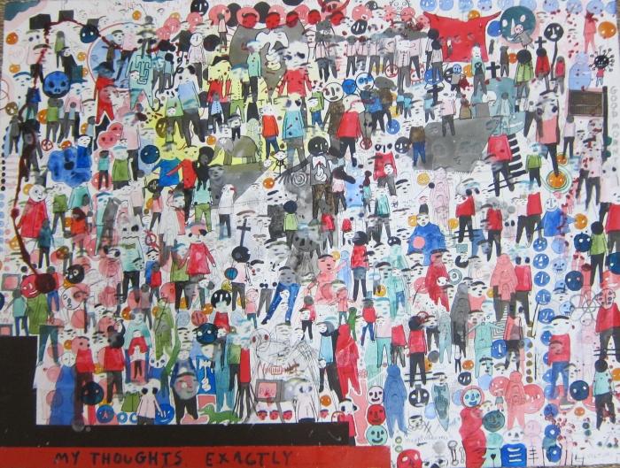 My Thoughts, 2013, Technique mixte sur bois, 46 x 61 cm, Neil Farber