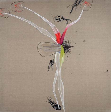 acrylique sur toile de lin, 2x2 m,2008