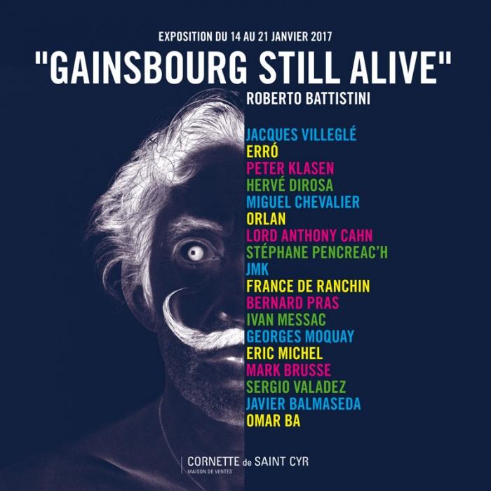 Affiche de l'exposition Gainsbourg Still Alive