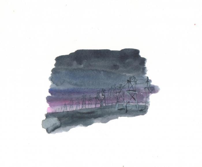 Hydro, watercolour on paper, 14 x 19 cm