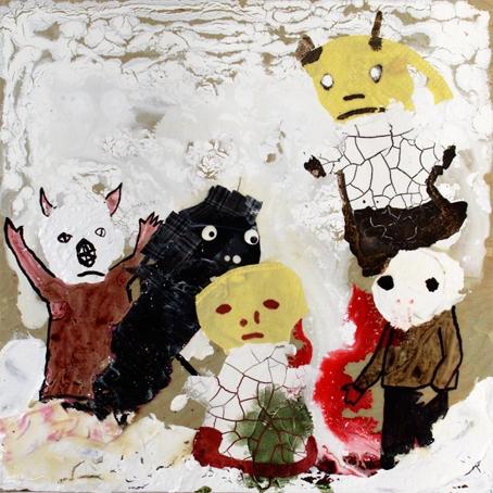 Untitled, 2010, Technique mixte sur panneau, 60 x 61 cm, Neil Farber