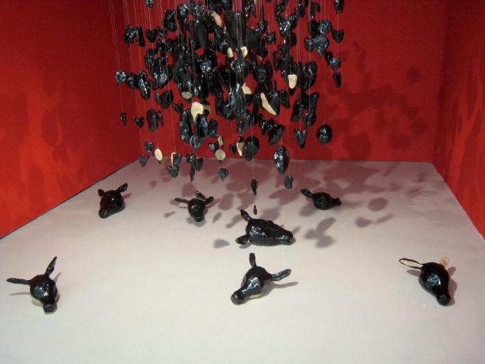 """Musée De Saint Etienne, 2008, """"jetés hors d'eux mêmes"""", Françoise Pétrovitch"""