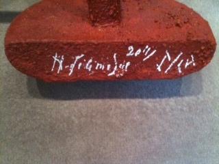 Le temps passe, pied de la sculpture, 1969-2011, acrylique sur bois, sculpture originale, sur 8 exemplaires, Hervé Télémaque