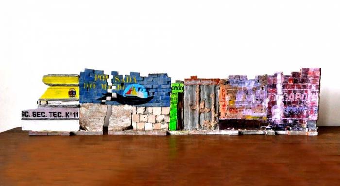 Mur Brésilien - Verso 23x100x8 cm. Un titre de propriété de mur est remis à l'acquéreur. Ex unique.