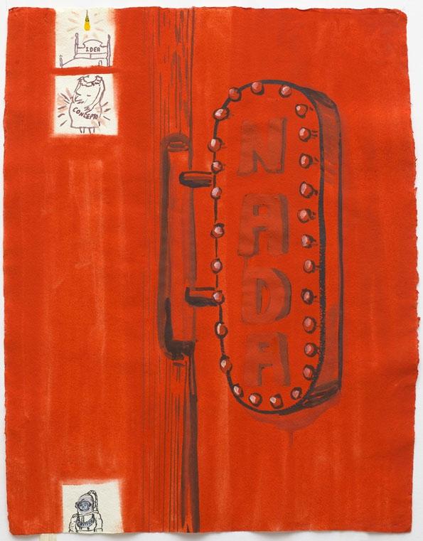 Nada, technique mixte sur papier, 56 x 46 cm, 2013