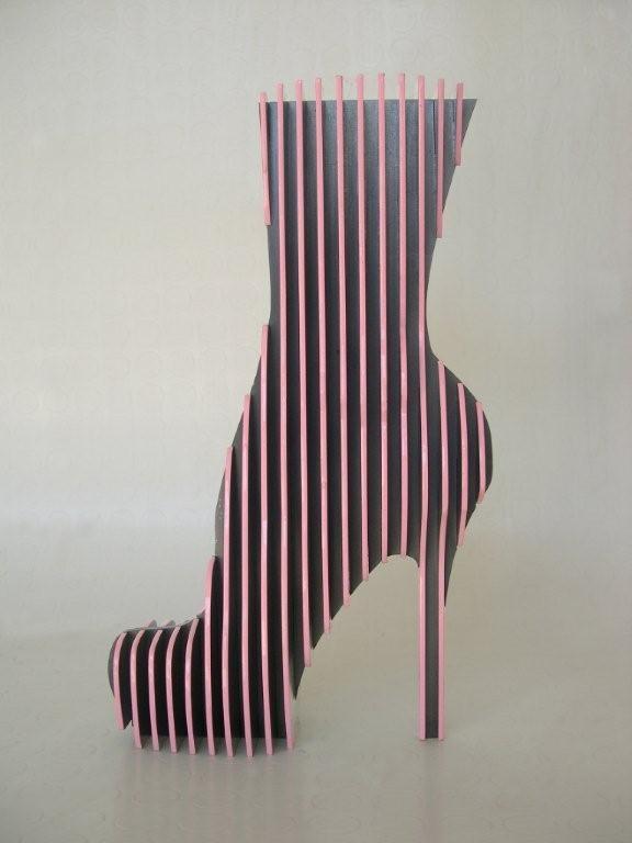 Acier, laque industrielle H : 36 cm  signé numéroté sur 8 exemplaires 2009