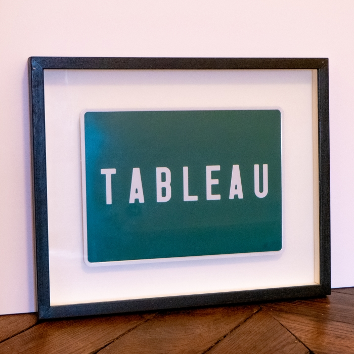 Tableau, Technique mixte, Plaque minéralogique, 32 x 40 cm, c. 1990