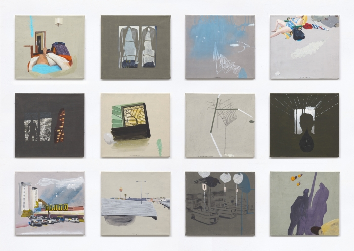 Todos aquellos que no soy, technique mixte sur toile, 35 x 38 cm, 2013