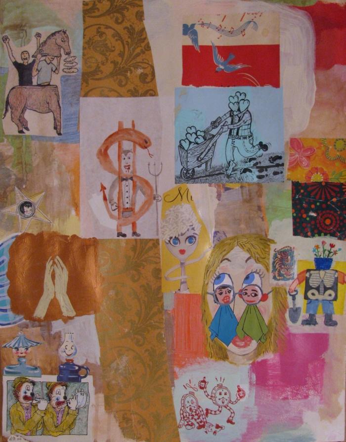 Untitled, 2010,Texture mixte sur papier, 48 x 37 cm