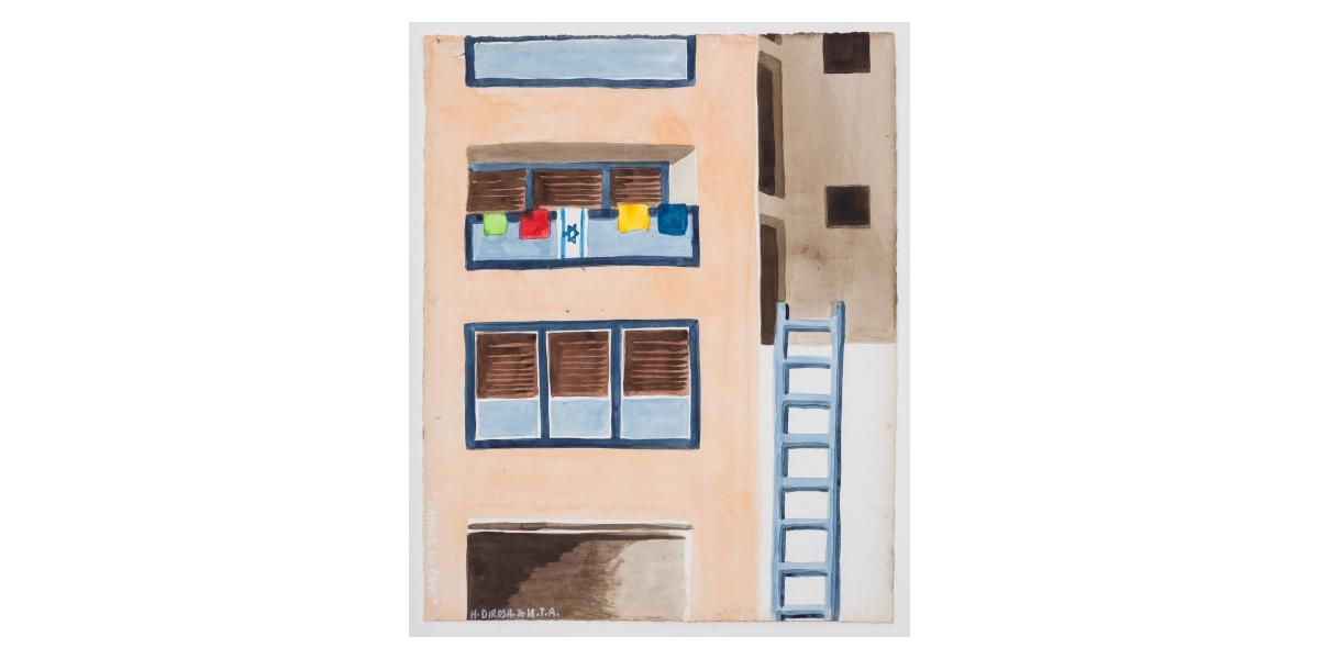 L'Amour du pays, 2014, aquarelle sur papier, 50 x 65 cm, Tel Aviv, Hervé Dirosa