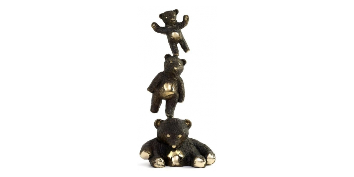 Philippe Berry, Trois petits ours, 50 x 26 x 17 cm