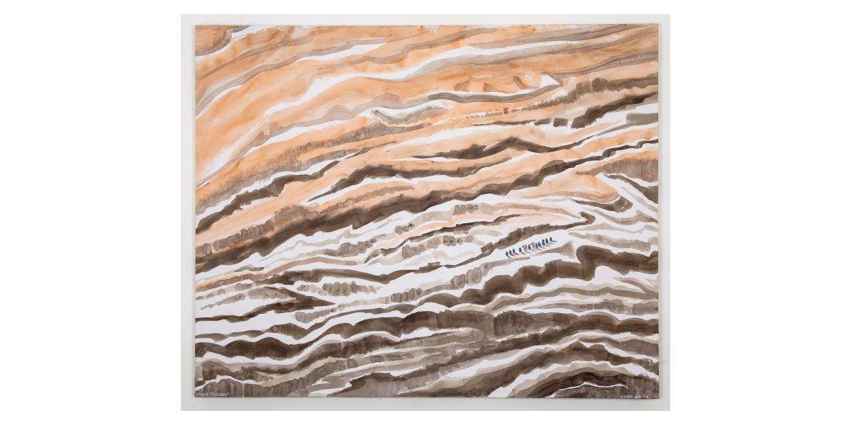 From Massada, 2014, aquarelle et technique mixte sur toile, 180 x 146, Tel Aviv, Hervé Dirosa