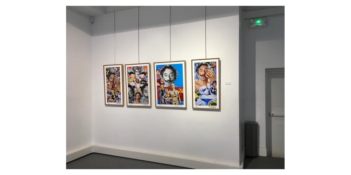 Vue de l'exposition Gainsbourg Still Alive, Paris 8ème