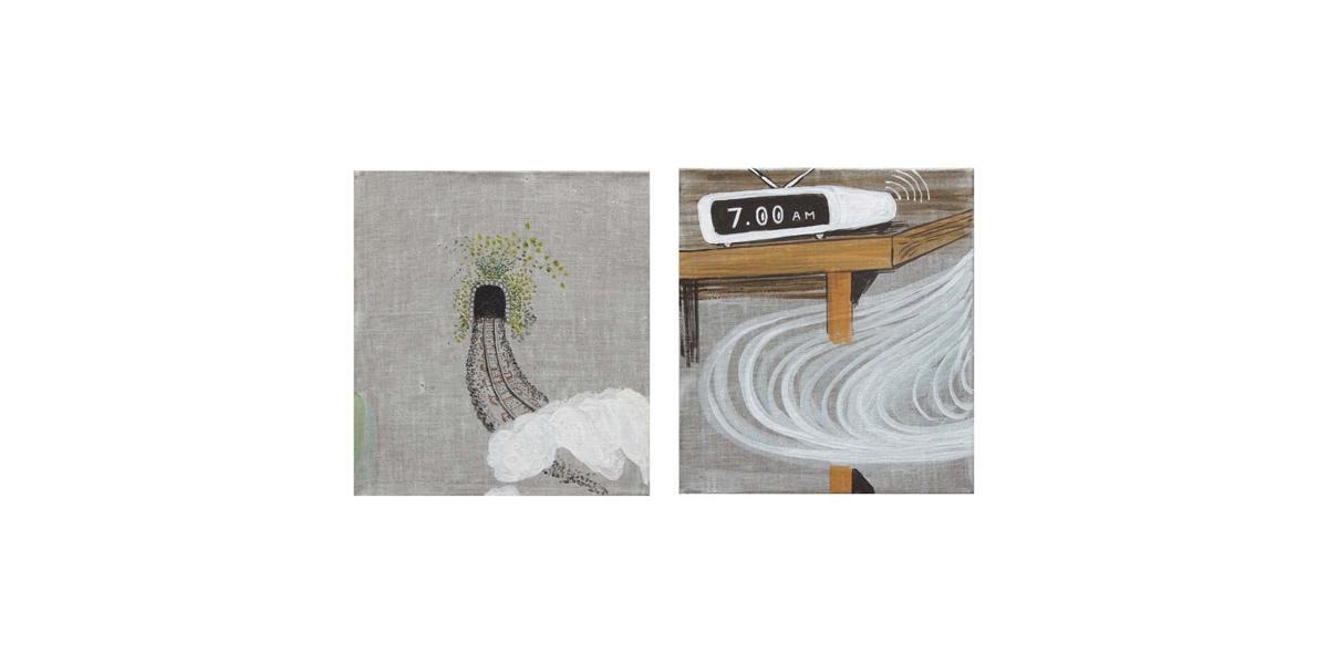 Hotel Fénix: tiempo, technique mixte sur toile, 73 x 73 cm, 2011
