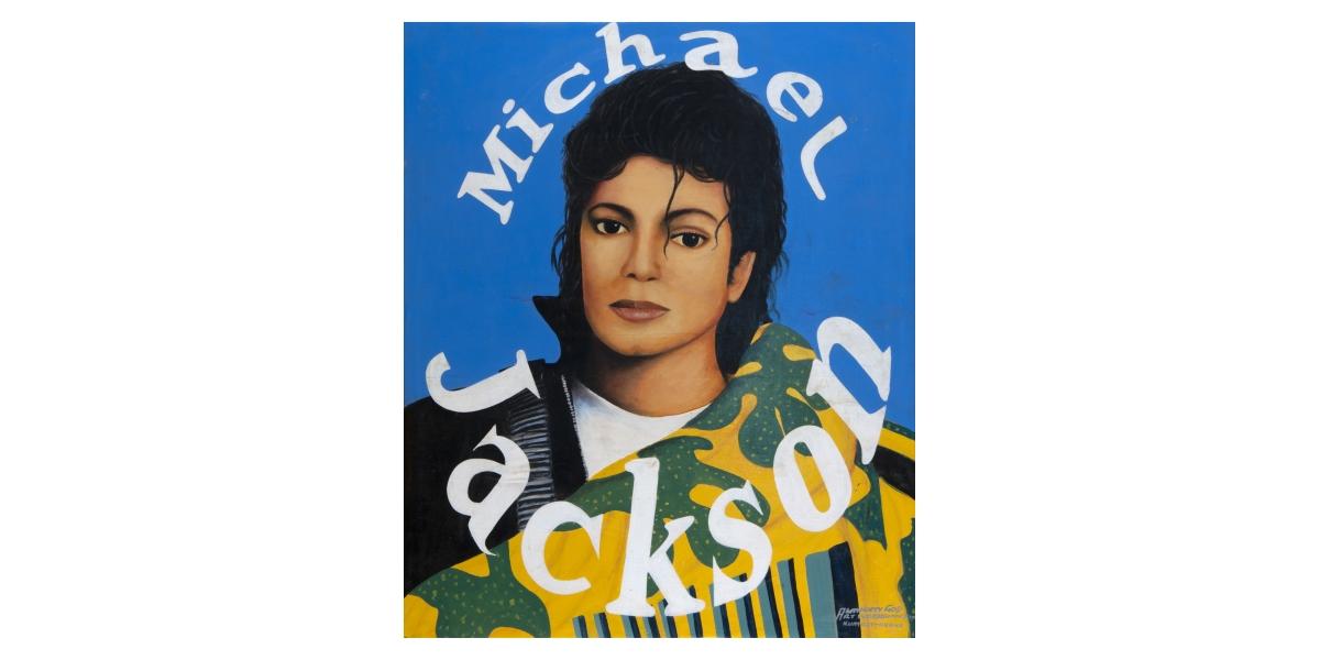 Kwame Akoto Almighty God, Michael Jackson, acrylique sur toile, 91,5 x 73,5 cm