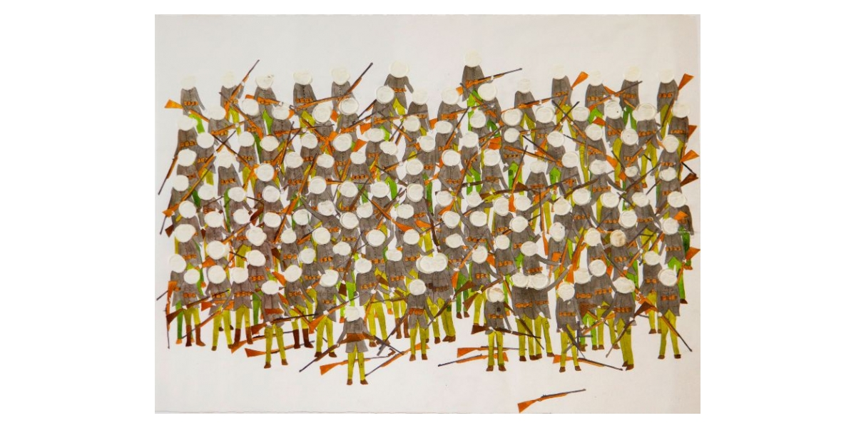 Untitled, 2009, Technique mixte sur papier, 56 x 76 cm, Neil Farber