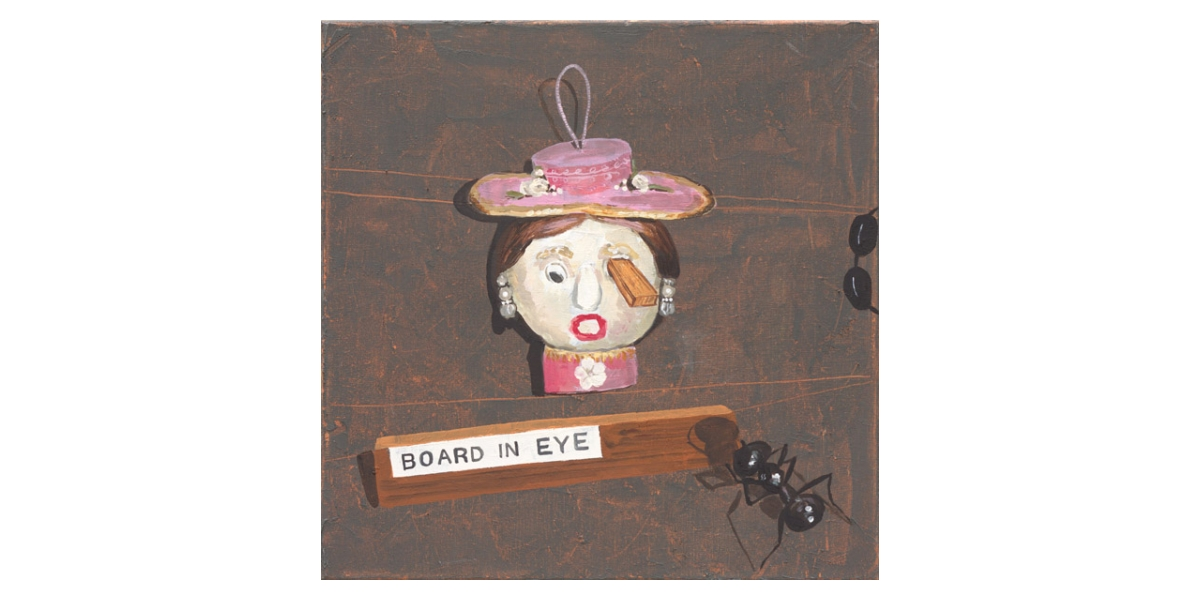 Board in eye, technique mixte sur toile, 40 x 46 cm, 2013