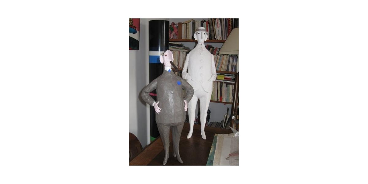Ça va (2006), Content de lui (2009), sculptures en résine