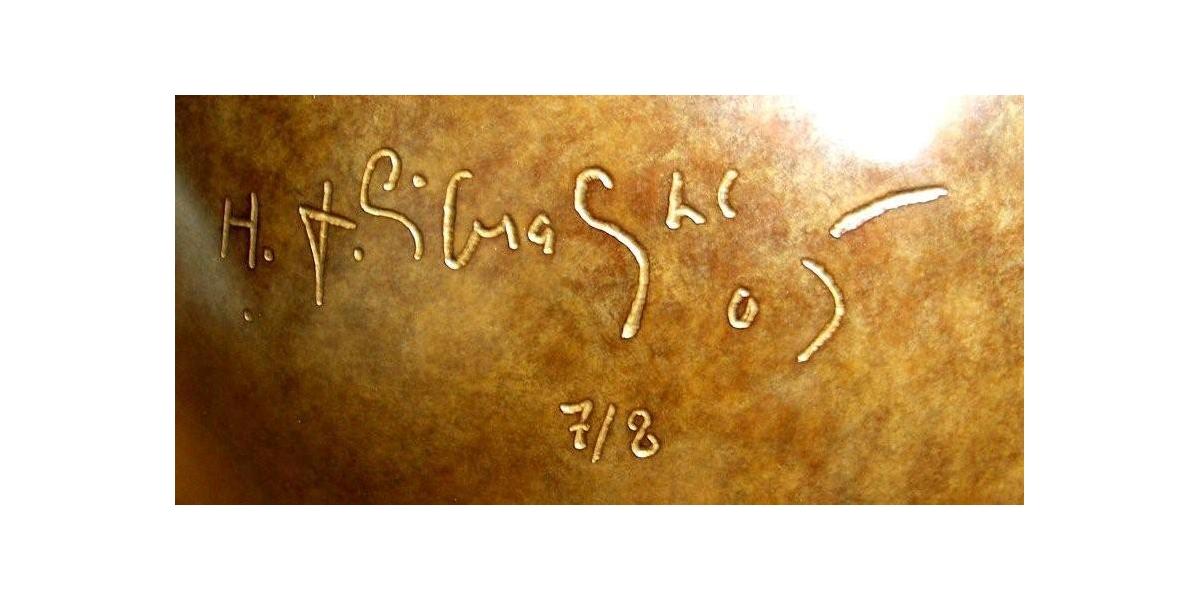 """Signature, """"le désert"""", Hervé Télémaque"""