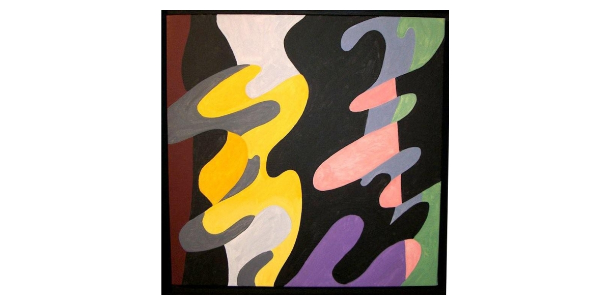 Acrylique sur toile, 2006, 50x50 cm,reproduit p10 catalogue fww, Guy De Rougemont