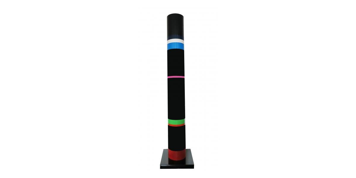 Colonne (ou tube) annelée, pvc, hauteur 1.65 m, Ø 20 cm, 1976, Rougemont