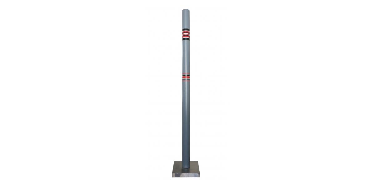 Cylindre polychrome ou colonne, pvc, hauteur 1,87 m, Ø 8 cm, 1971, Rougemont
