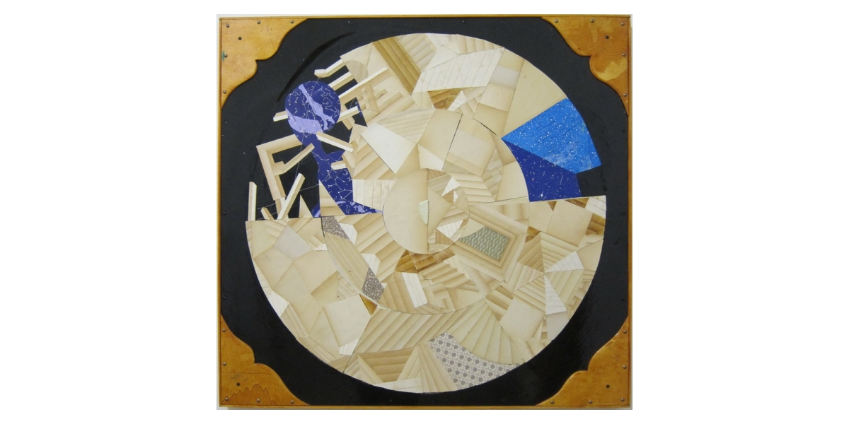 Untitled, 2011, technique mixte, collage sur bois, 98 x 91 cm, Adrian Williams