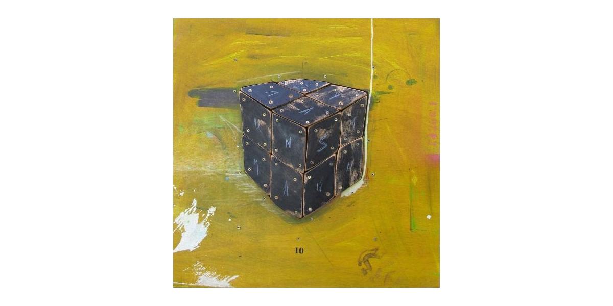 Cube Noir - Technique mixte sur Bois - 50 x 50 cm - 2010