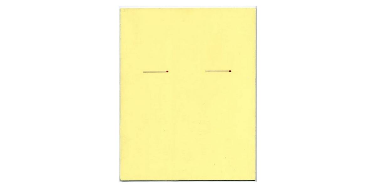 Enveloppe, 2009, Acrylique et graphite sur panneau, 28 x 35 cm