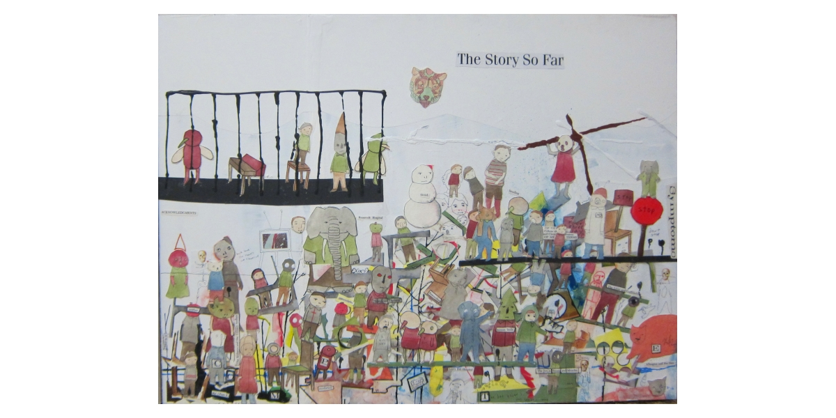 The Story So Far, 2013, Technique mixte sur bois, 41 x 61 cm, Neil Farber