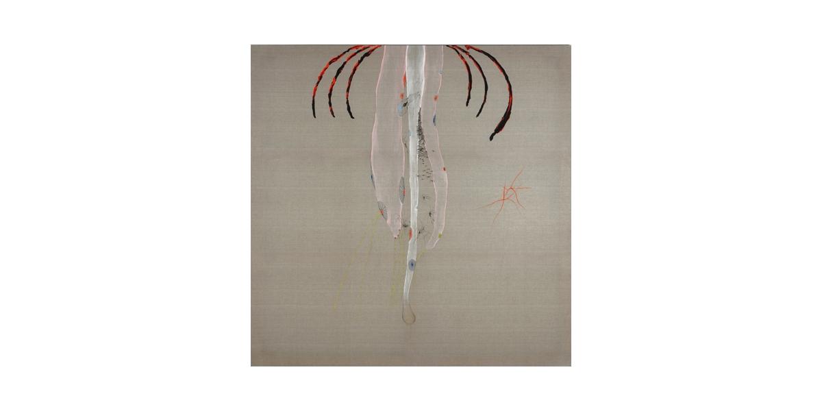 sans titre, acrylique sur toile de lin, 2008, 2x2