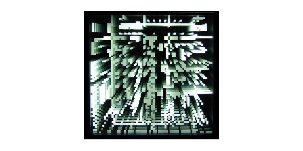 pixels infinis blanc, 2009,Drop Fine Art, 65x65x10 cm