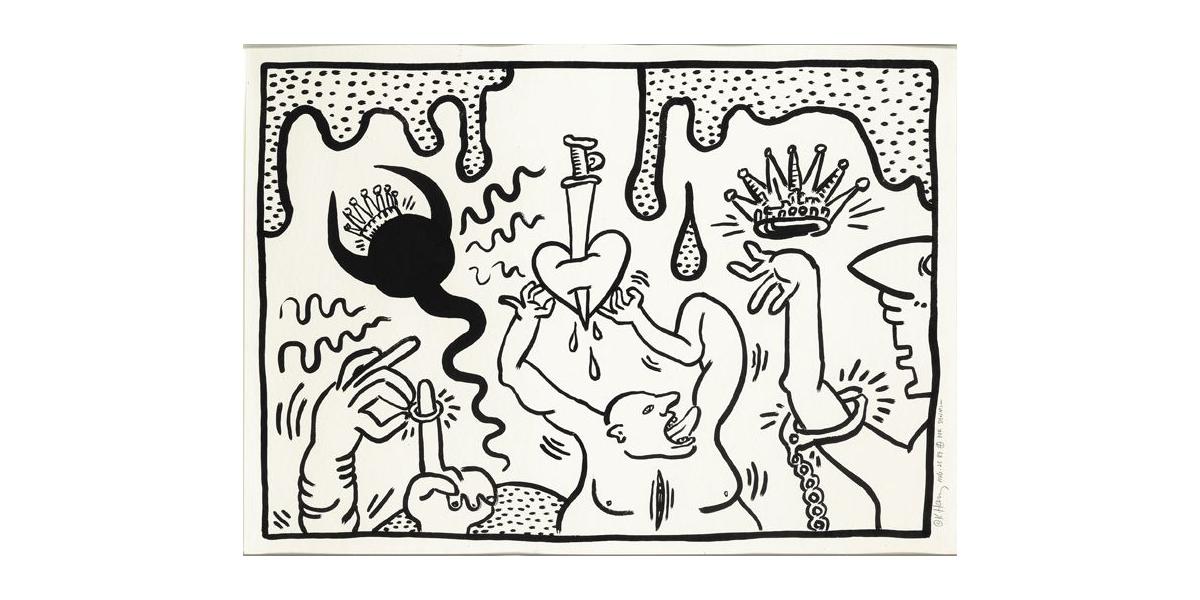 Untitled, 1988, encre Sumi sur papier, 73 x 102,2 cm