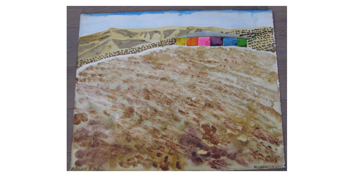 Atelier à Arad, 2010, acrylique sur toile, 17ème étape du tour du monde, Tel Aviv, Hervé Di Rosa