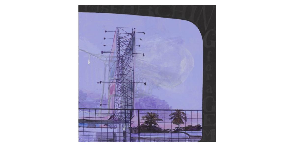 I'm searching, technique mixte sur toile, 73 x 73 cm, 2011