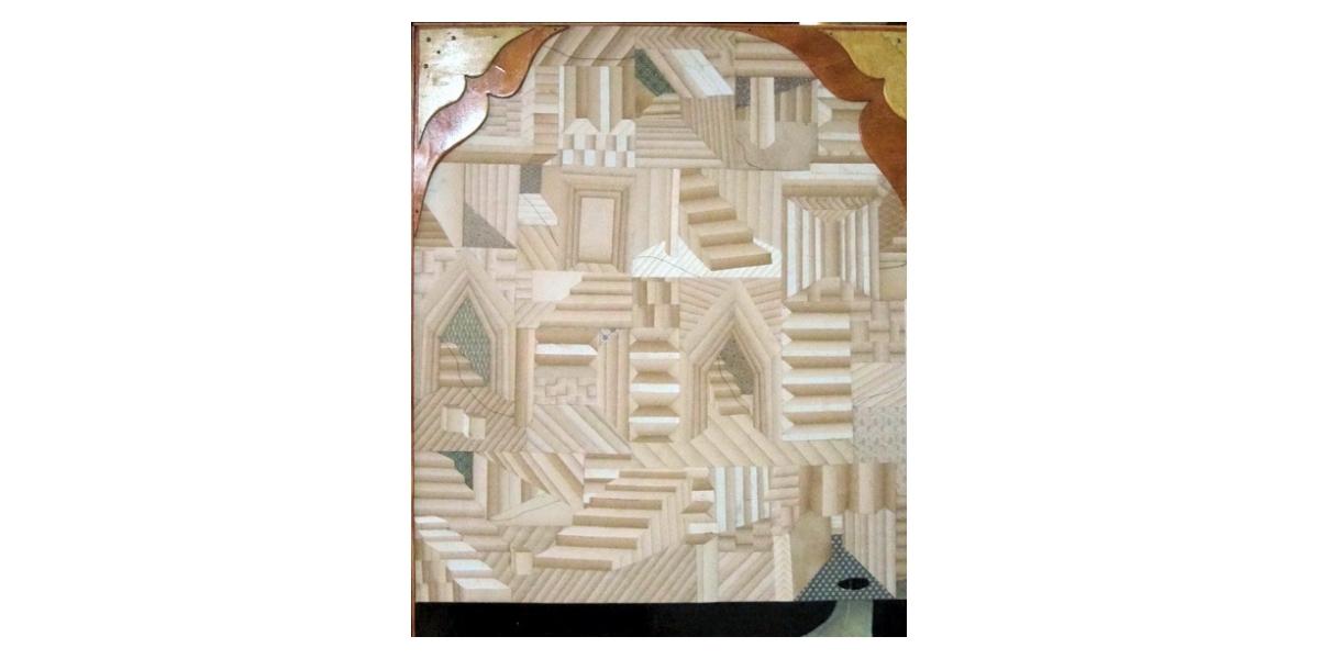 Untitled, 2011, technique mixte, collage sur bois, 70 x 95 cm, Adrian Williams