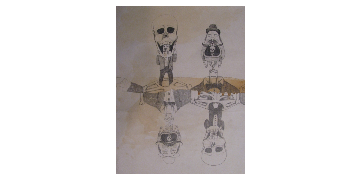 InsideOut, 2010, Encre et stylo sur papier, 30 x 25 cm