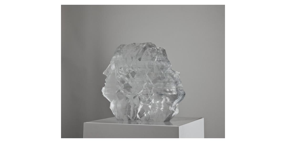 Janus, sculpture plexiglas, 45x35x40 cm, oeuvre unique, 2012