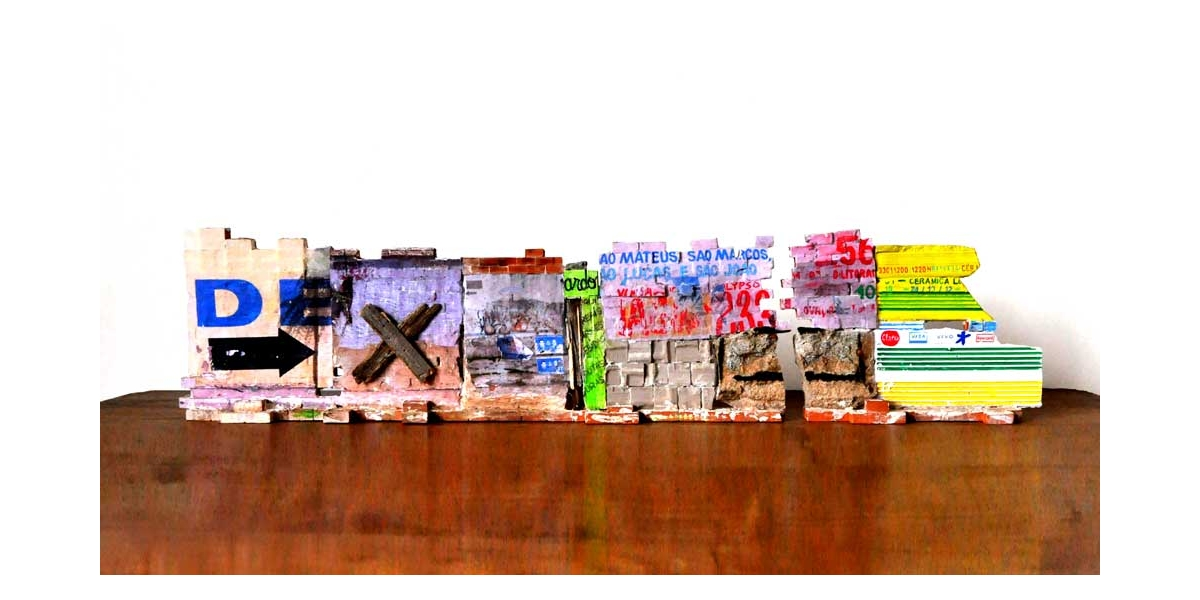 Mur Brésilien - Recto 23x100x8 cm. Un titre de propriété de mur est remis à l'acquéreur. Ex unique.