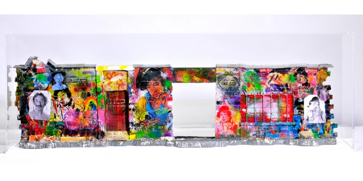 Lord Anthony Cahn - Roberto Battistini, briques, ciment, bois, aérographe et acrylique, 2016
